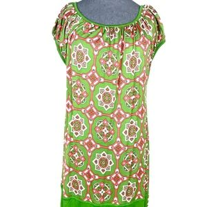 Juicy Couture Green Pink Printed Tunic Top Dress